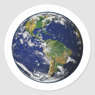 PLANET EARTH (solar system) ~~ Classic Round Sticker