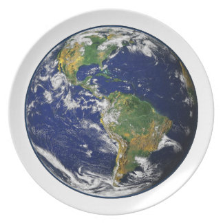 PLANET EARTH (solar system) ~~ Party Plate