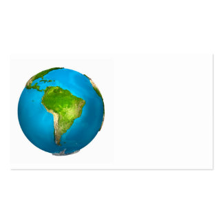 Planet Earth - South America - Colorful Globe. 3d Business Card