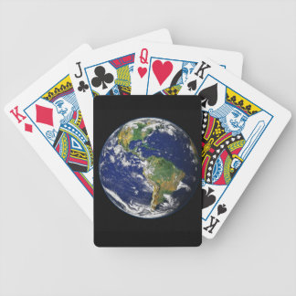 PLANET EARTH SPACE PHOTOGRAPHY BLUES GREENS BLACK BICYCLE PLAYING CARDS
