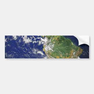 PLANET EARTH SPACE PHOTOGRAPHY BLUES GREENS BLACK CAR BUMPER STICKER