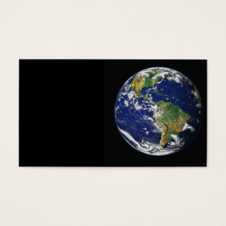 PLANET EARTH SPACE PHOTOGRAPHY BLUES GREENS BLACK BUSINESS CARD