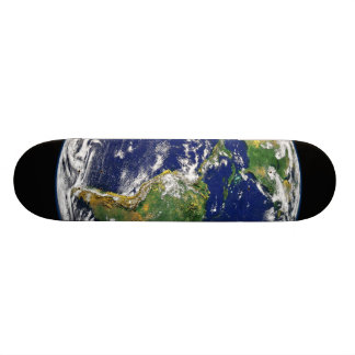 PLANET EARTH SPACE PHOTOGRAPHY BLUES GREENS BLACK SKATEBOARD