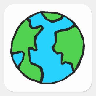 Planet Earth Square Sticker
