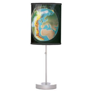 Planet Earth Tectonic Plates Desk Lamps