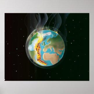 Planet Earth Tectonic Plates Poster