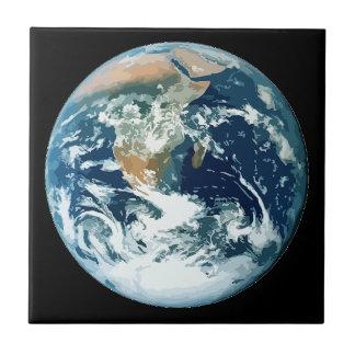 Planet Earth Ceramic Tile