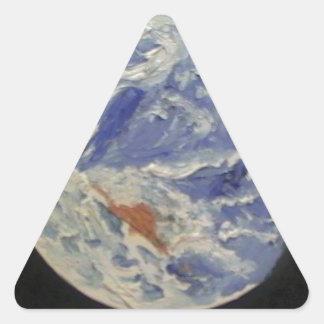 Planet Earth Triangle Sticker