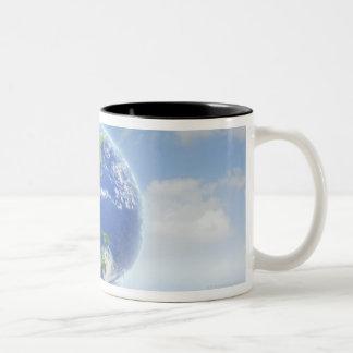 Planet Earth Two-Tone Coffee Mug