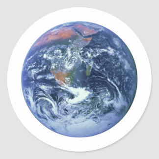 PLANET EARTH v2 (solar system) ~ Classic Round Sticker