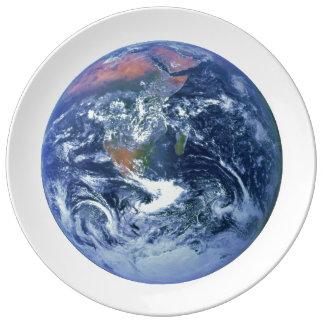 PLANET EARTH v2 (solar system) ~ Porcelain Plate