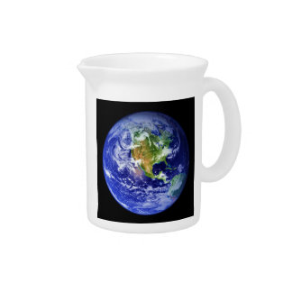 PLANET EARTH v3 natural ~.jpg Beverage Pitcher