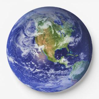 PLANET EARTH v3 (solar system) ~ Paper Plate