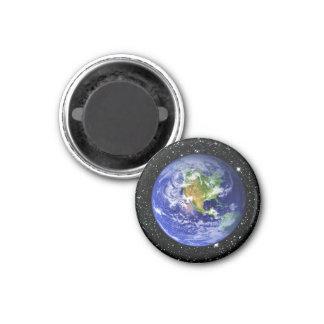 PLANET EARTH v3 star background (solar system) ~ 1 Inch Round Magnet