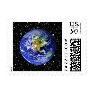 PLANET EARTH v3 star background (solar system) ~ Postage