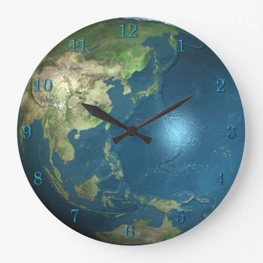 Planet Earth Wall Clock Zazzle Com