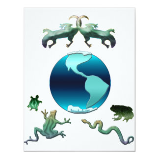 Planet Earth with Herps Card