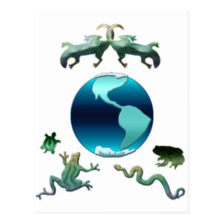 Planet Earth with Herps Postcard