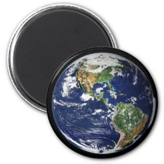 Planet Earth with the Moon in the Background Fridge Magnets