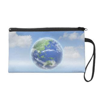 Planet Earth Wristlet Purse