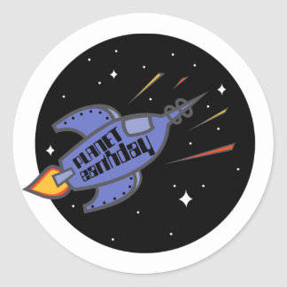 Planet Earthday t-shirt Classic Round Sticker