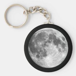 PLANET EARTH'S MOON natural (solar system) ~ Basic Round Button Keychain