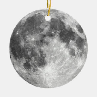 PLANET EARTH'S MOON (solar system) ~ Ceramic Ornament