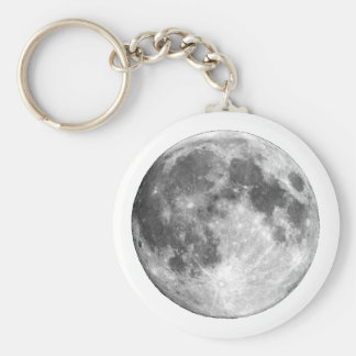PLANET EARTH'S MOON (solar system) ~~ Basic Round Button Keychain