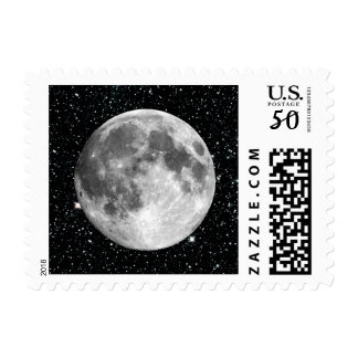 PLANET EARTH'S MOON star background (solar system) Postage