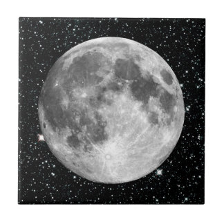 PLANET EARTH'S MOON star background (solar system) Tile