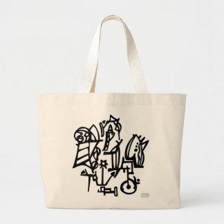 Planet Eckma - workshop Large Tote Bag