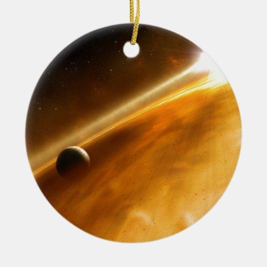 Planet Fomalhaut B Orbiting a Star Ceramic Ornament