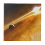 Planet Fomalhaut B Orbiting a Star Ceramic Tile