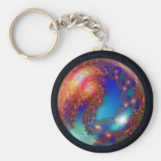 Planet Fractal Keychain