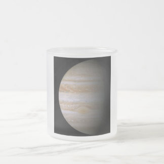 Planet Frosted Glass Coffee Mug