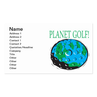 Planet Golf Business Cards