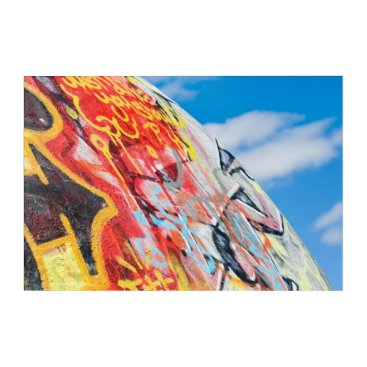 Art Themed planet graffiti acrylic wall art