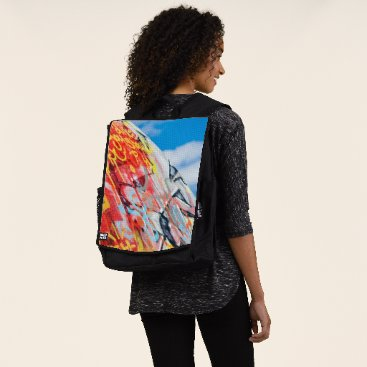 Art Themed planet graffiti backpack