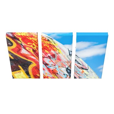 Art Themed planet graffiti canvas print