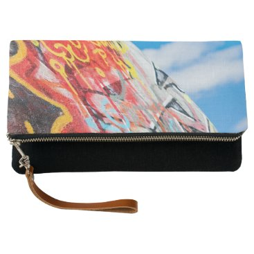 Art Themed planet graffiti clutch