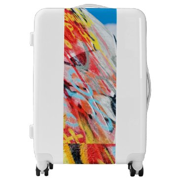 Art Themed planet graffiti luggage