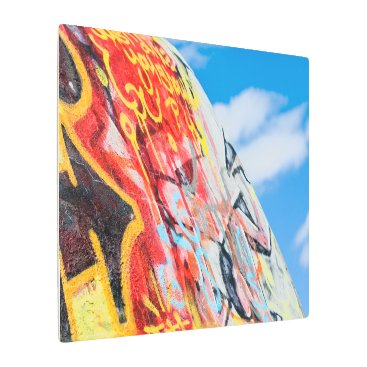 Art Themed planet graffiti metal print