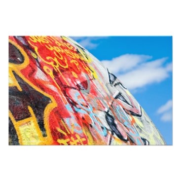 Art Themed planet graffiti photo print