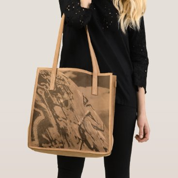 Art Themed planet graffiti tote