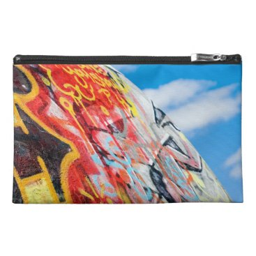 Art Themed planet graffiti travel accessory bag