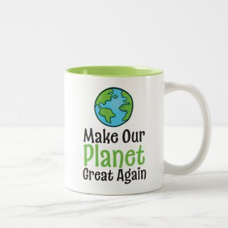 Planet Great Again 11 oz Two-Tone Mug