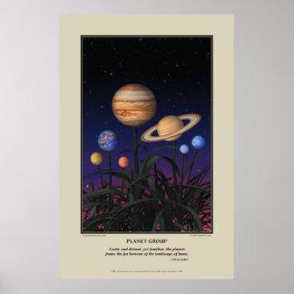 Planet Group Print