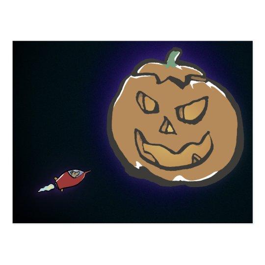 planet halloween postcard
