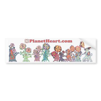 Planet Heart featuring the HeartMarking HeartFlowe bumpersticker