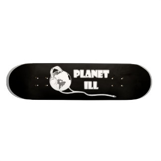 Planet Ill White Globe Skate Board
